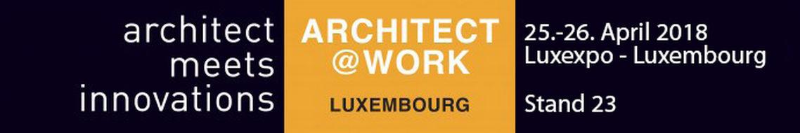 GEZE ist auf dem Design- und Architektur-Event ARCHITECT@WORK in Luxembourg.. Foto: architect@work Veranstalter