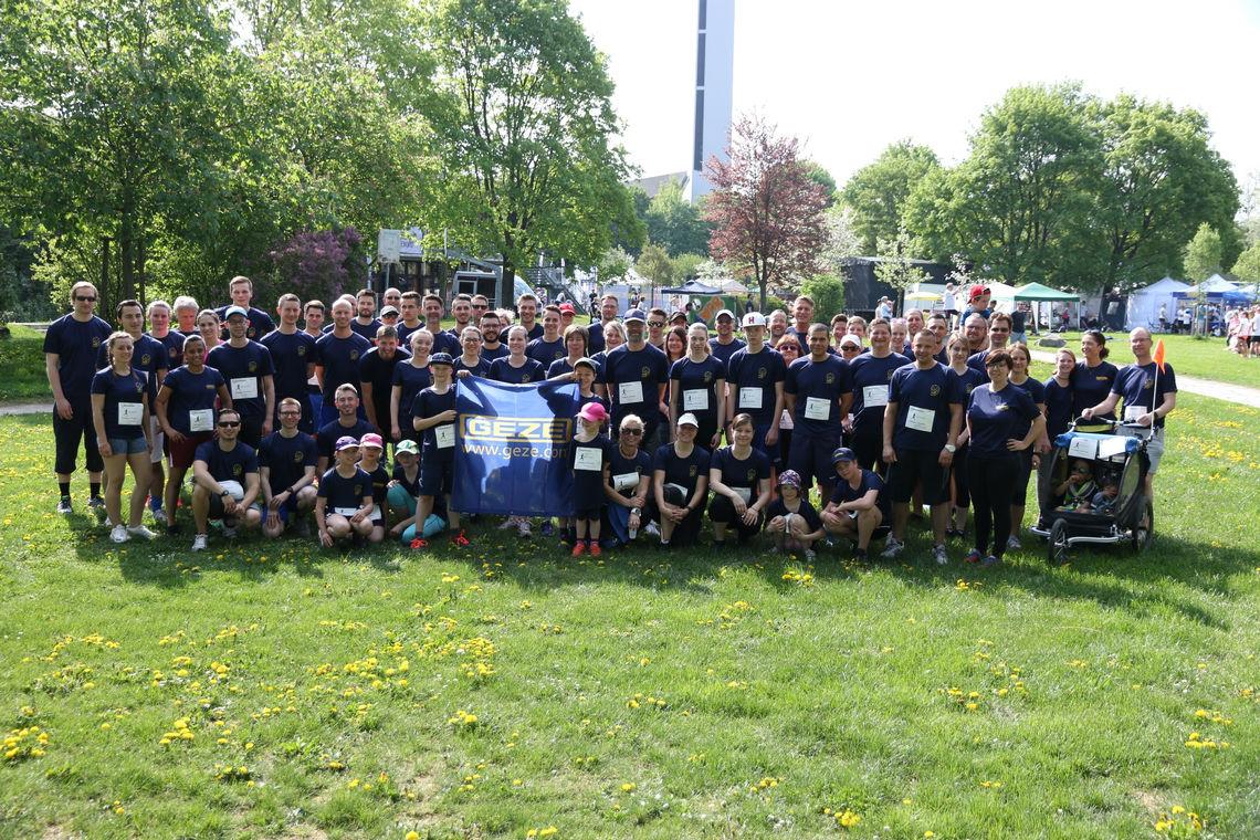 GEZE Laufgruppe beim Ditzinger Lebenslauf 2018