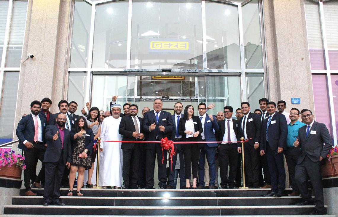 200 Führungskräfte aus der Bau- und Designbranche sowie Vertreter von GEZE Middle East und SAND STONE Oman nahmen teil. Foto: GEZE GmbH