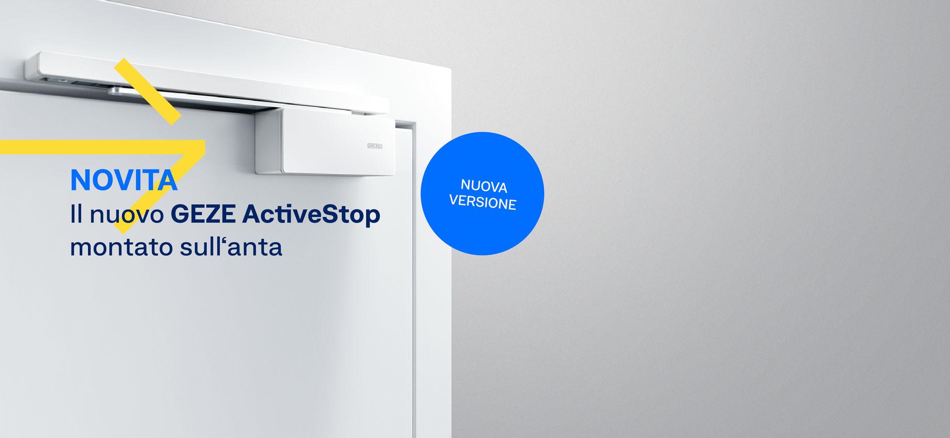 Il nostro GEZE ActiveStop facilita l'apertura di una porta rallentandone delicatamente la chiusura in maniera sileziosa. Oltre all'affermata versione integrata ora offriamo la variante installabile sull'anta.
