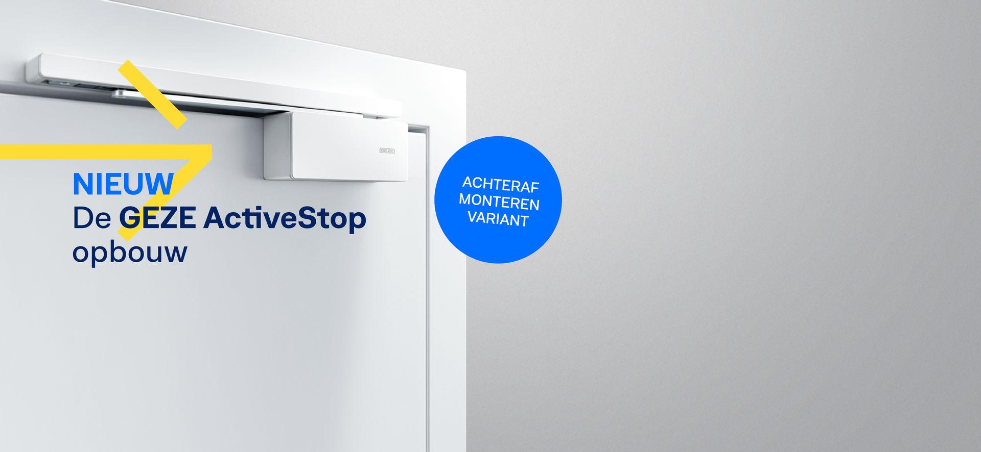 Onze GEZE ActiveStop stopt deuren zacht, sluit ze stil en houdt ze comfortabel open. Naast de beproefde geïntegreerde variant bieden wij nu een opliggende variant aan voor de simpele uitbreiding.