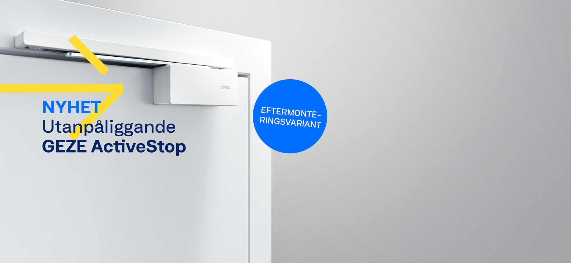 GEZE ActiveStop bromsar upp dörrar mjukt, stänger dem tyst och håller dem öppna på ett bekvämt sätt. Förutom den välbeprövade integrerade varianten erbjuder vi nu också en utanpåliggande variant som enkelt kan eftermonteras.