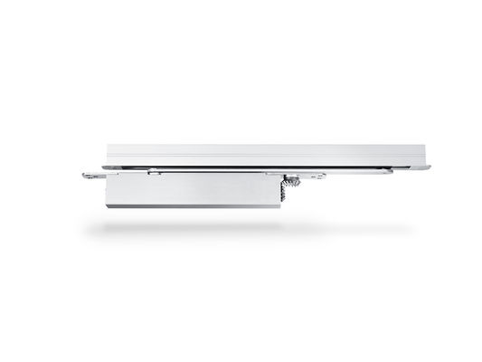 Door closer Boxer E Integrated door closer for single leaf doors with a leaf width of up to 1400 mm. The door closer is embedded in the door leaf and the frame and meets the highest design demands. Hydraulic latching action which accelerates the door shortly before reaching the closed position.