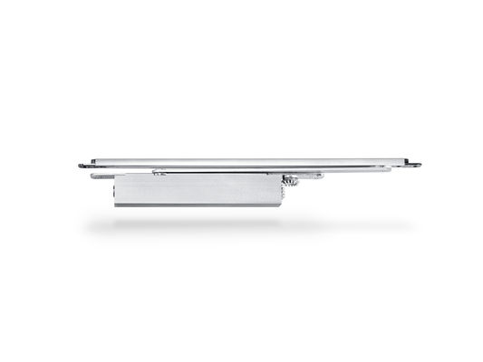 GEZE Boxer integrated door closer Integrated door closer for single leaf doors with a leaf width of up to 1400 mm. The door closer is embedded in the door leaf and the frame and meets the highest design demands. Hydraulic latching action which accelerates the door shortly before reaching the closed position.