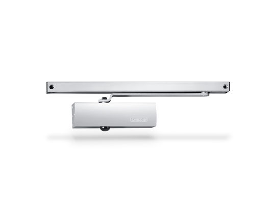 TS 1500 G overhead door closer with guide rail Can be used on right and left leaf doors with a leaf width up to 750 mm
