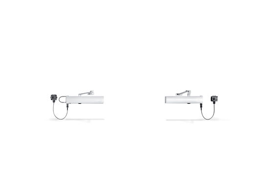 TS 4000 E-IS Overhead door closer for fire protection doors and smoke protection doors, pinion door closer with electrohydraulic hold-open unit according to EN 1155 and from the front adjustable closing force
