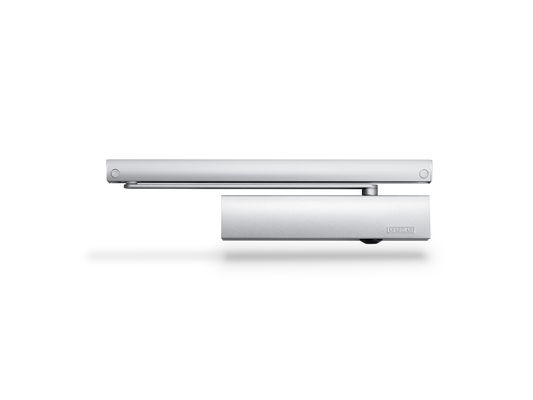 Door closer TS 5000 ECline Overhead door closer with guide rail for barrier-free single leaf doors up to 1250 mm leaf width with opening assistance, with integrated back check, which brakes quickly opened doors.