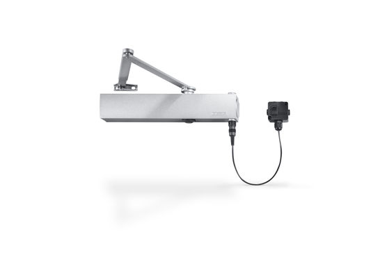 Door closer TS 4000 EFS Overhead door closer with free swing link arm and electrohydraulic hold-open unit, closing force size 1-6