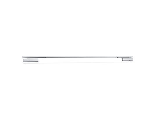 Overhead door closer with guide rail system TS 5000 ISM Door closer for double leaf doors with closing sequence control and with integrated back check, which causes the strongly opened doors to be slowed down.