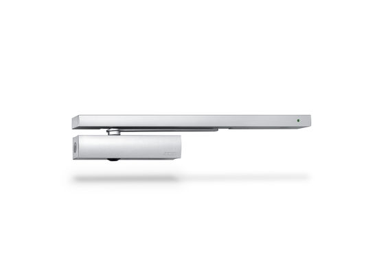 Door closer TS 5000 RFS Overhead door closer with guide rail for 1-leaf doorsup to 1400 mm leaf width with electric free swing function and smoke switch control unit