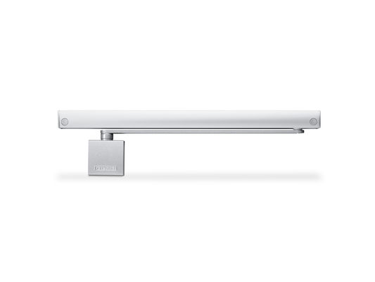 GEZE T-Stop guide rail with floor-mounted pivot bearing