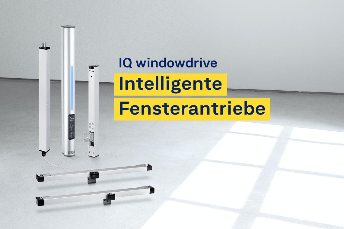 In vielen Gebäuden spielen Antriebe für kraftbetätigte Fenster eine entscheidende Rolle im Lüftungs- und RWA-Konzept. Die Fensterantriebe der IQ windowdrive Produktfamilie sind für beide Betriebsarten die ideale Lösung.