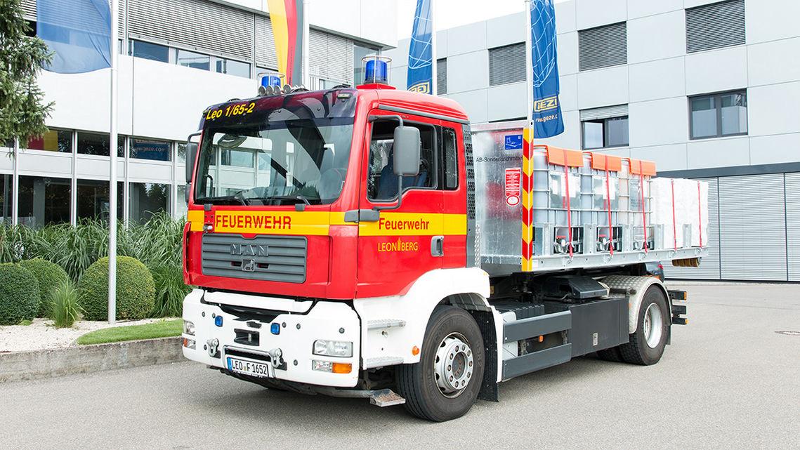Seit Jahren unterstützt GEZE das Engagement der über 300 ehrenamtlichen Mitglieder der Freiwilligen Feuerwehr Leonberg.