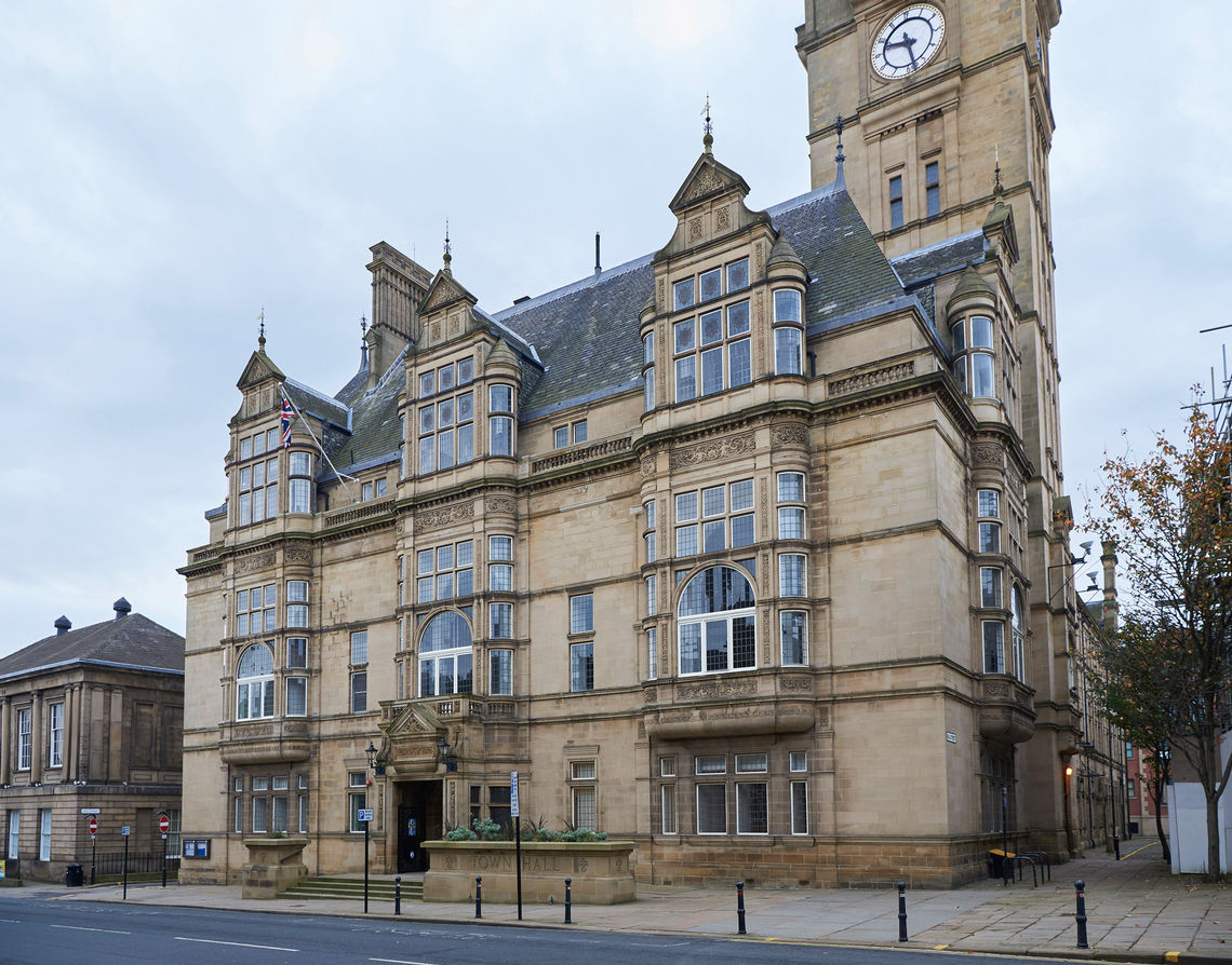 GEZE has equipped Wakefield Town Hall with state-of-the-art fire protection doors.