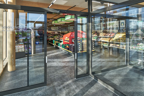 Automatic Sliding door system ECdrive T2 at Aldi Süd in Mühldorf