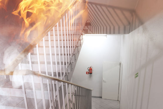Fire protection doors are important for preventive fire protection.