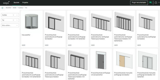 Mit waya ganz einfach BIM-Objekte online konfigurieren.