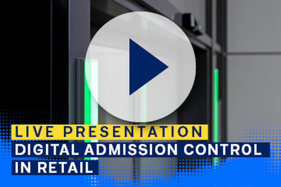 Adding the GEZE Counter to automatic doors creates an admission control system
