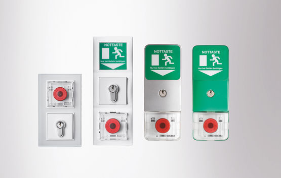 Part of the GEZE SecuLogic emergency exit system: GEZE TZ 320 door control unit