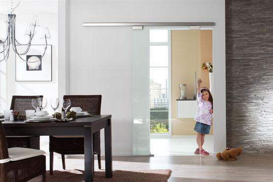 GEZE Perlan 140 schuifbeslagsysteem voor glazen deuren