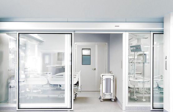 Tightly closing and accessible Powerdrive HT sliding door system from GEZE