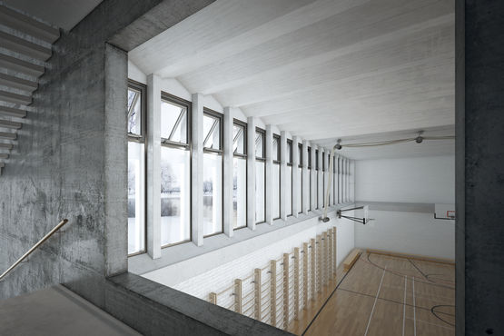 Indoor climate control in a gymnasium with natural ventilation