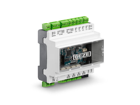 GEZE IO 420 BACnet interface module. Photo: GEZE GmbH