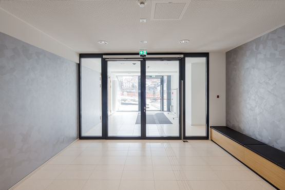 Glass swing door to the council chamber. Photo: Jürgen Pollak for GEZE GmbH