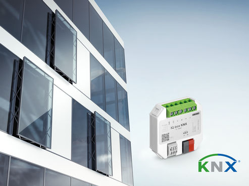 GEZE window drives integrated in KNX building systems