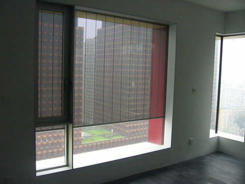 VBH solar shades fitted to the exterior of the high-rise façade.