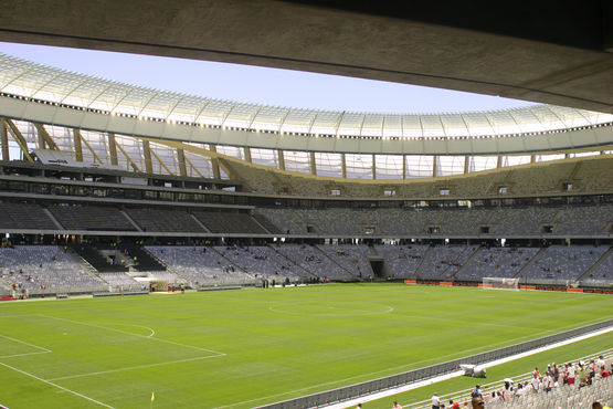 Cape Town Stadium, interior view with pitch.