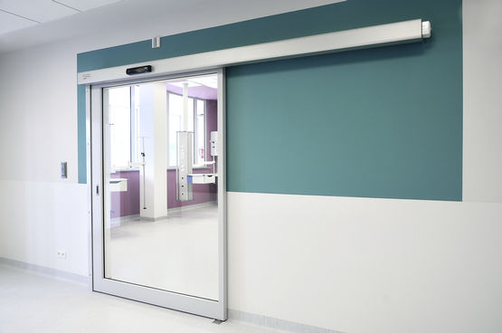 Sliding door at Children's Memorial Health Institute