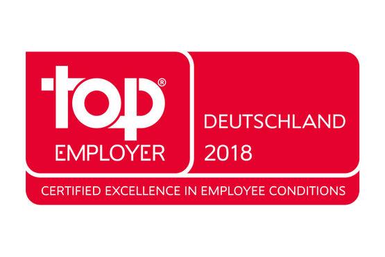 Auch das Top Employers Institute hat uns ausgezeichnet.