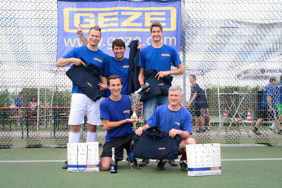 The winning team of the 2018 GEZE Penalty Cup  Photo: GEZE GmbH