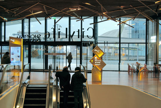 Automatic doors wherever you look - a key feature in a shopping centre. Photo: GEZE GmbH