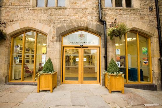 GEZE Slimdrive EMD F-IS swing door drive, Durham Town Hall, Great Britain