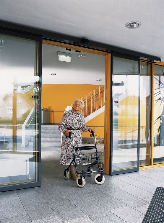 Automatic doors for barrier-free access
