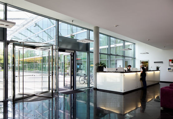 Automatic door systems are very popular in hotels.