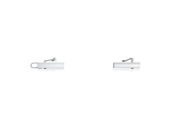 Ferme-porte en applique à pignon pour portes à simple action avec force de fermeture réglable et amortissement d'ouverture