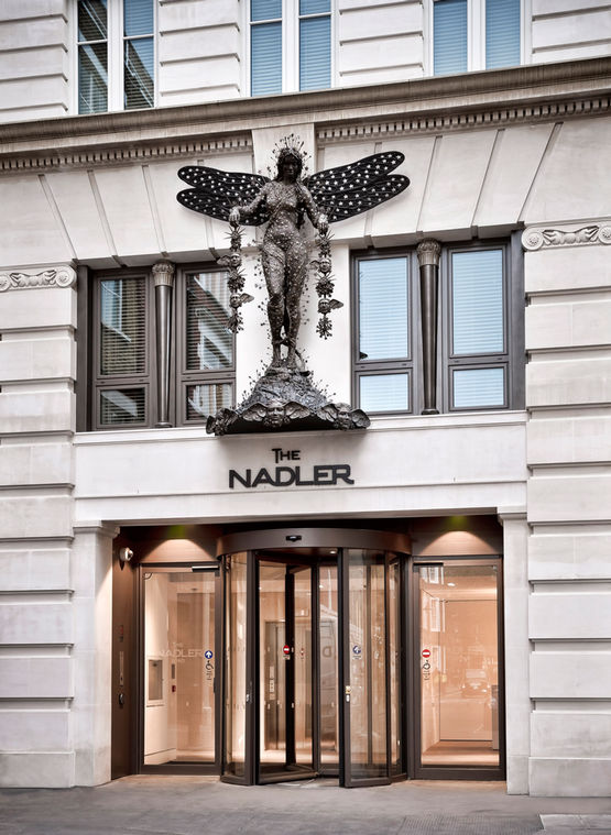 GEZE TSA 325 NT manual revolving door with Slimdrive EMD-F in The Nadler Hotel, London