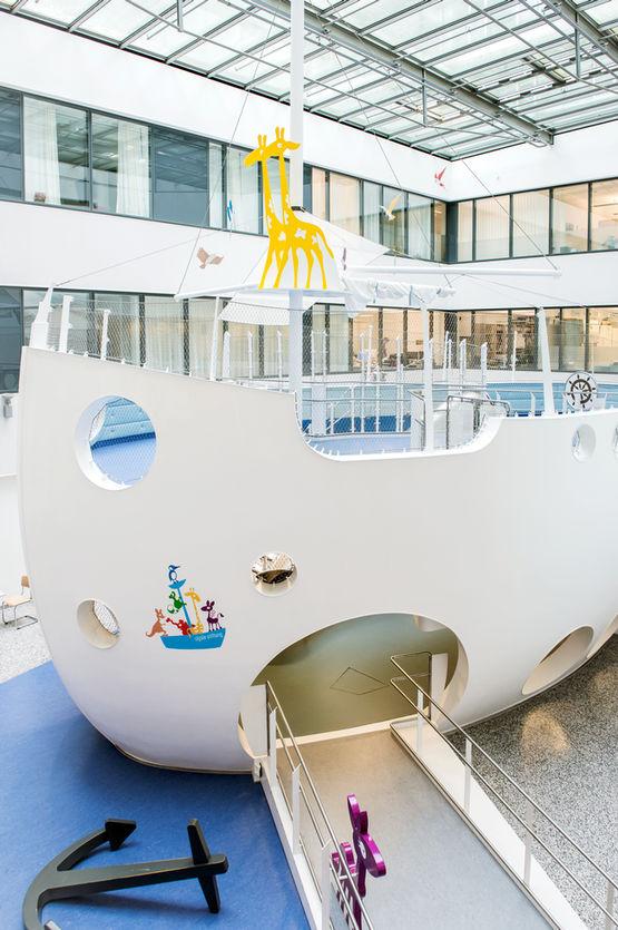 """Die """"Arche"""" im Klinikum Stuttgart: einladend und spielerisch"""