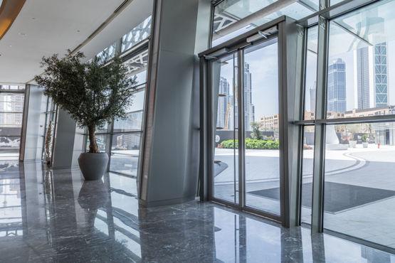 GEZE Powerturn swing door drive in the Dubai Opera building