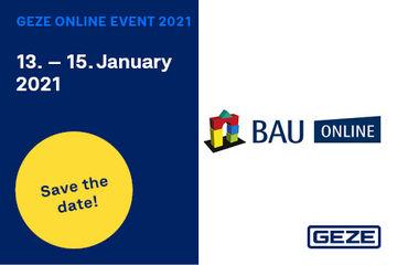 GEZE participates in BAU ONLINE 2021