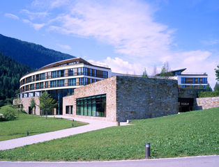 Exterior view of the Berchtesgaden Kempinski Hotel.