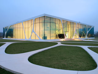 Exterior view of Leonardo Glass Cube.
