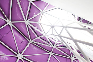 Kuppeldach des Japan Pavillons, EXPO-Gebäude.