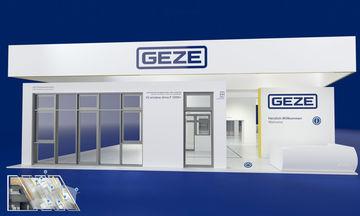 GEZE Produkte online erleben: Wer sich schnell und kompakt zu den GEZE Produkt-Highlights infomieren will, kann sich direkt über die Stand-Übersicht an die entsprechende Position im Stand klicken.