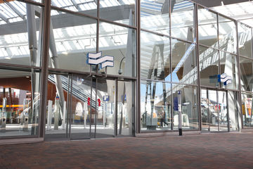 Automatic glass door installed in Bijlmer Arena, Amsterdam