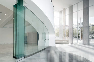 GEZE Movable glass partitioning wall system